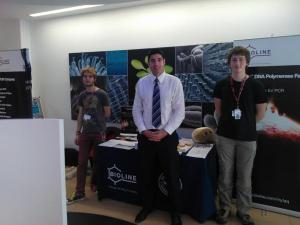 University of Leicester iGEM Team with their Bioline Account Manager